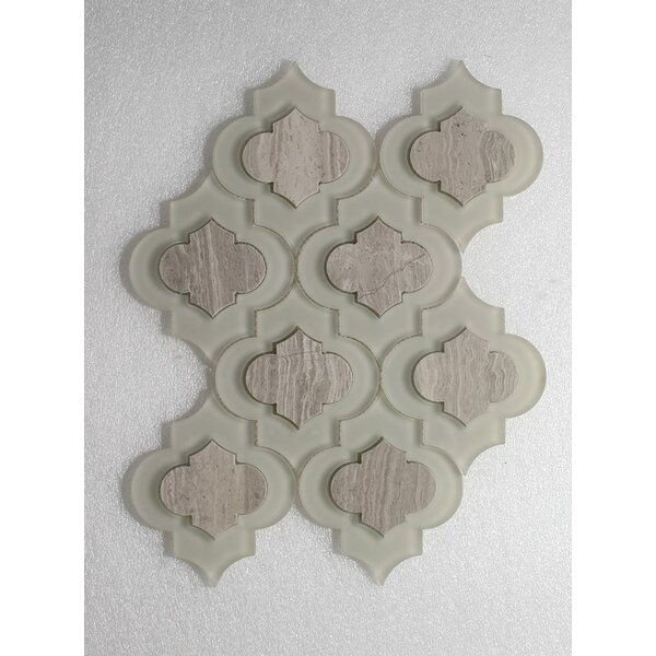Oyster Wall Clear and Polished 12 x 12 Glass Mosaic Tile in Gray by Seven Seas