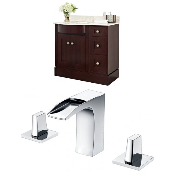 Kester Transitional 36 Rectangle Wood Single Bathroom Vanity Set by Darby Home Co