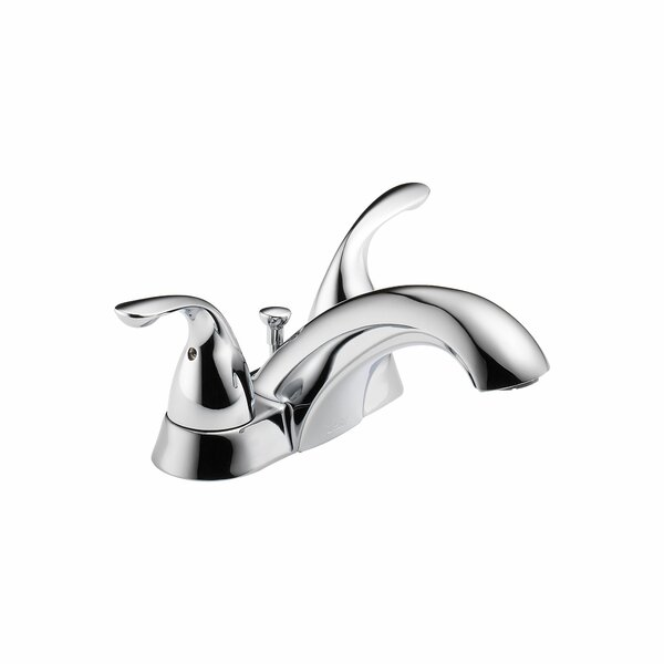 Classic Centerset Bathroom Faucet with Drain Assembly and Diamond Seal Technology by Delta