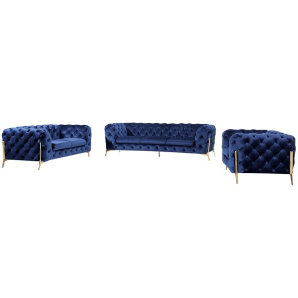 Sheila 3 Piece Living Room Set by Everly Quinn