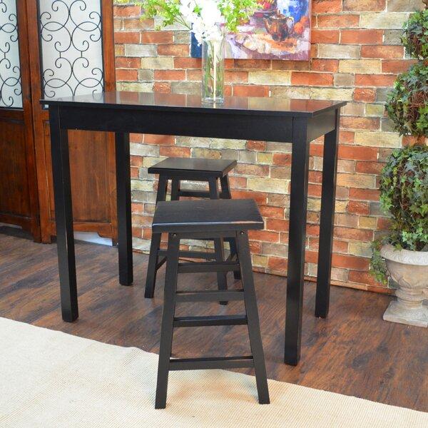 Beachcrest Home Waquoit 3 Piece Pub Table Set U0026 Reviews | Wayfair