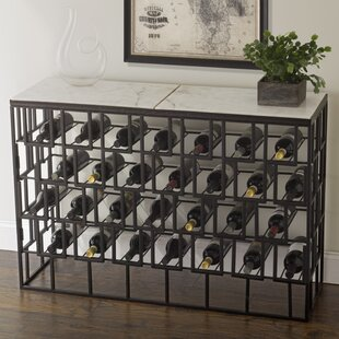 stylist kitchen table with wine storage. Marble Console 28 Bottle Floor Wine Rack Table  Wayfair