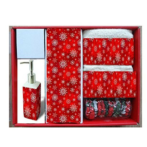 Holiday Snow Resin Shower Curtain Set by The Holiday Aisle