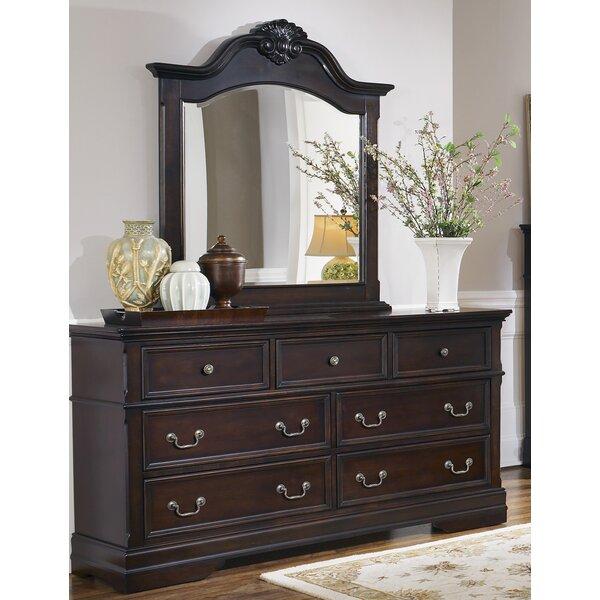 Gilmer 7 Drawer Dresser with Mirror by Astoria Grand