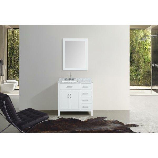 Weatherford 37 Single Bathroom Vanity Set with Mirror by Orren Ellis