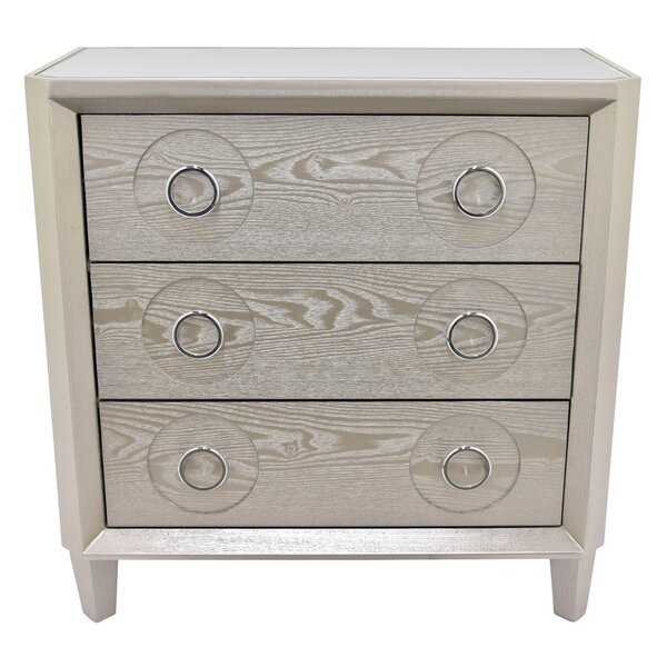 Centrahoma 3 Drawers Accent Chest by Bungalow Rose