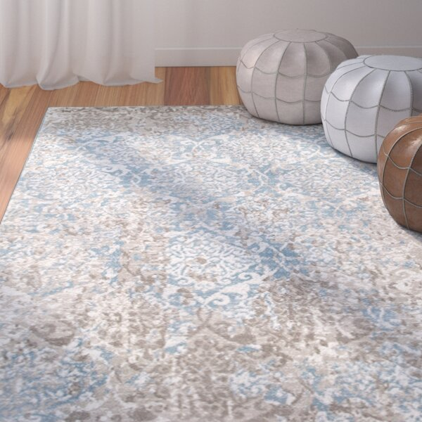 Fayme Abstract Blue/Beige Area Rug by World Menagerie