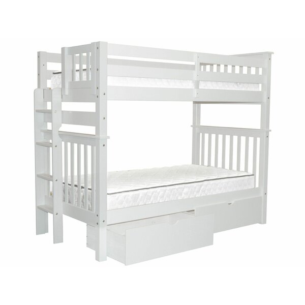 Treva Tall Twin Over Twin Bunk Bed with Drawers by Harriet Bee