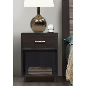 Chicopee Wood 1 Drawer Nightstand by Zipcode Design