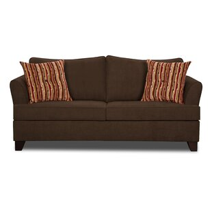 Hillcrest Leather Loveseat By Union Rustic Low Price