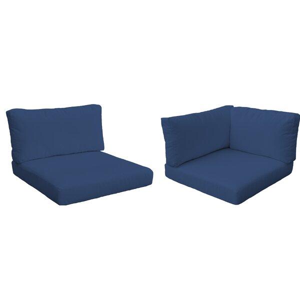 Monaco Outdoor 8 Piece Lounge Chair Cushion Set by TK Classics TK Classics