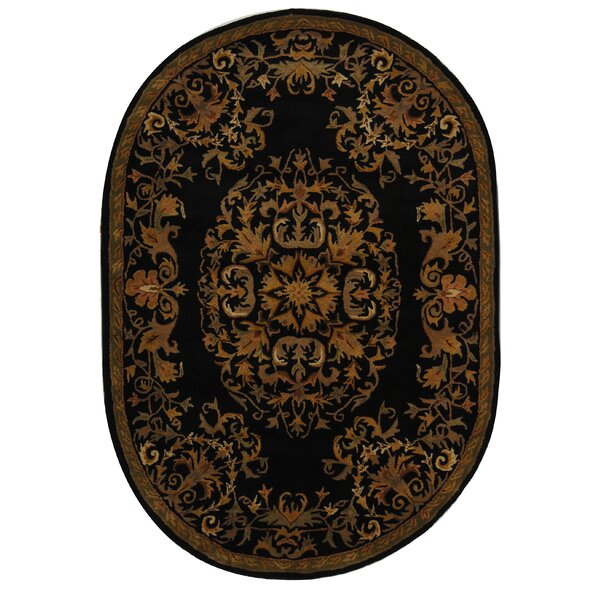 Balthrop Black/Gold Area Rug by Astoria Grand