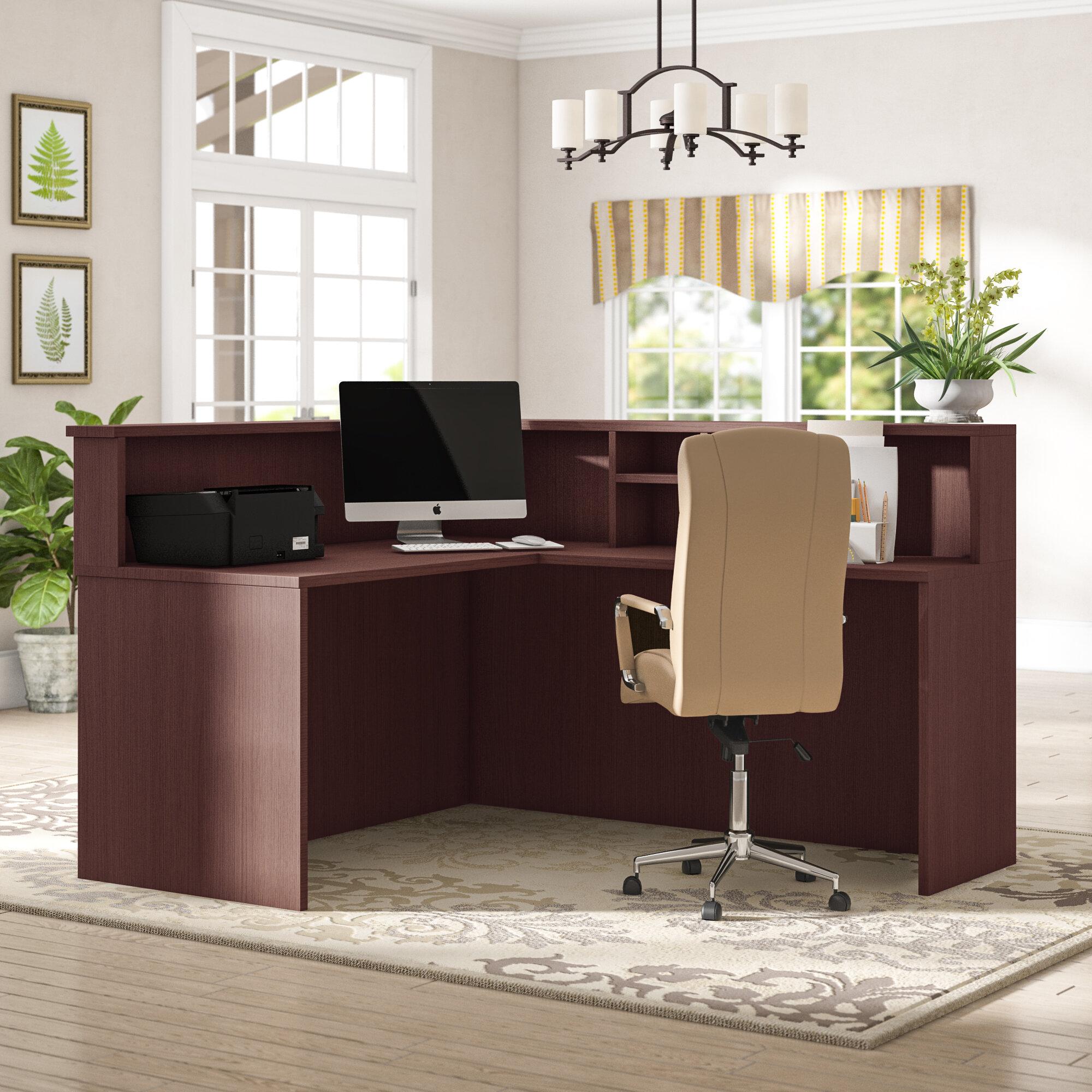 Cecilia Office L Shape Reception Desk