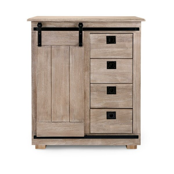 Canvey Paulownia Wood Asher Barn 1 Door Accent Cabinet by Gracie Oaks Gracie Oaks