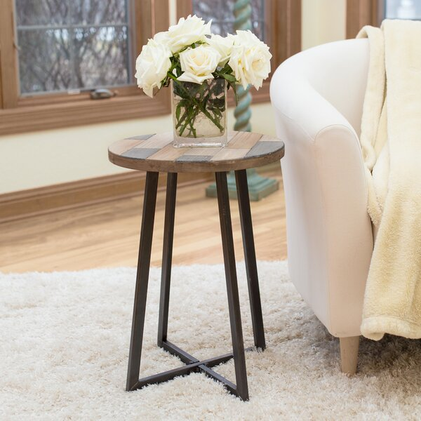 Tisbury Rustic Wood End Table by Union Rustic