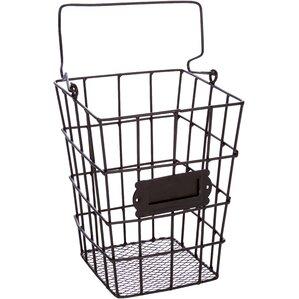 Metal Wire And Mesh Hanging Utensil Storage Basket
