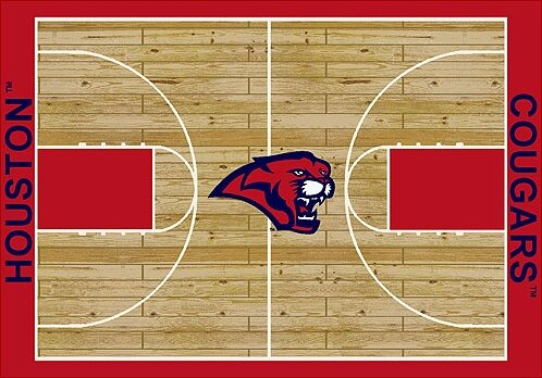 NCAA College Home Court Houston Novelty Rug by My Team by Milliken