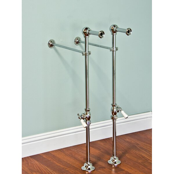 Free Standing Leg Tub Supply Set with Shutoffs by Strom Plumbing by Sign of the Crab