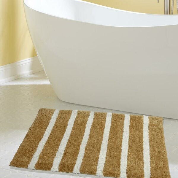 Engleside Bold Stripes Designer Plush Microfiber Bath Rug by Ivy Bronx