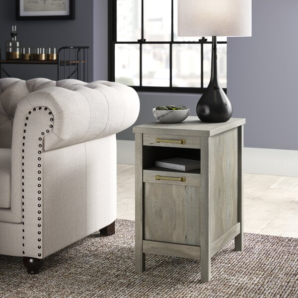 Tilden End Table With Storage By Greyleigh