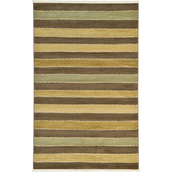 Langham Brown Area Rug by Beachcrest Home