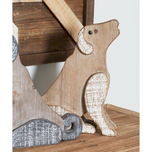 Delran Farmhouse Sitting Dog Figurine by August Grove
