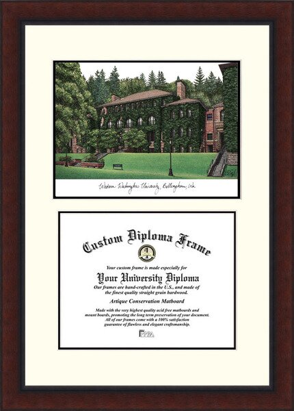 NCAA Western Washington University Legacy Scholar Diploma Picture Frame by Campus Images