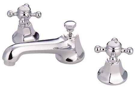 Metropolitan Widespread Bathroom Faucet with Double Cross Handles by Elements of Design