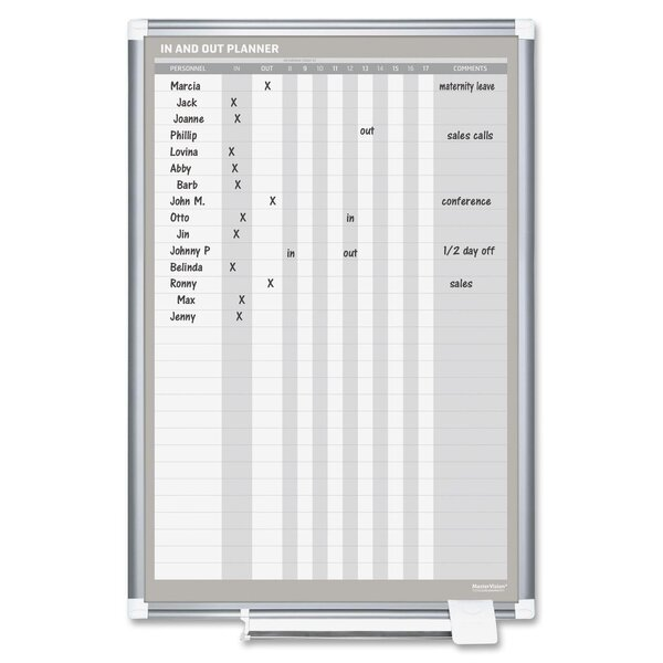 Wall Mounted Whiteboard, 36 x 24 by Bi-silque Visual Communication Product, Inc.