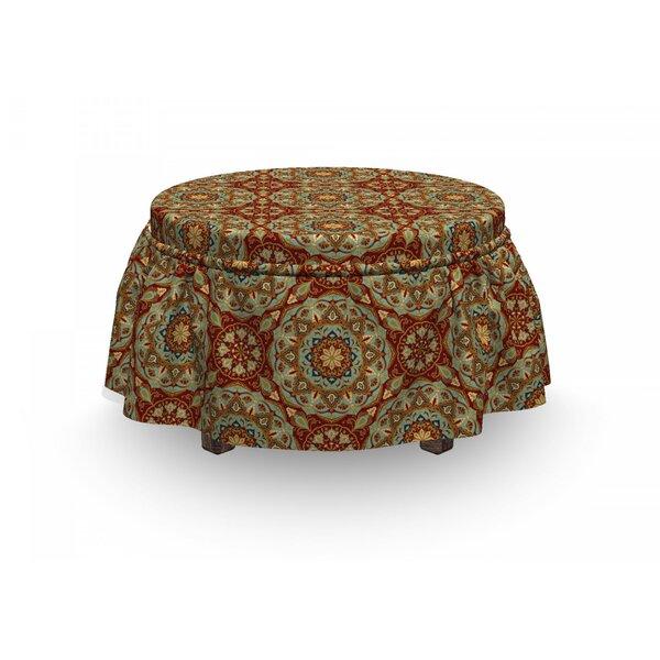 Mandala Medieval Mosaic Design 2 Piece Box Cushion Ottoman Slipcover Set By East Urban Home