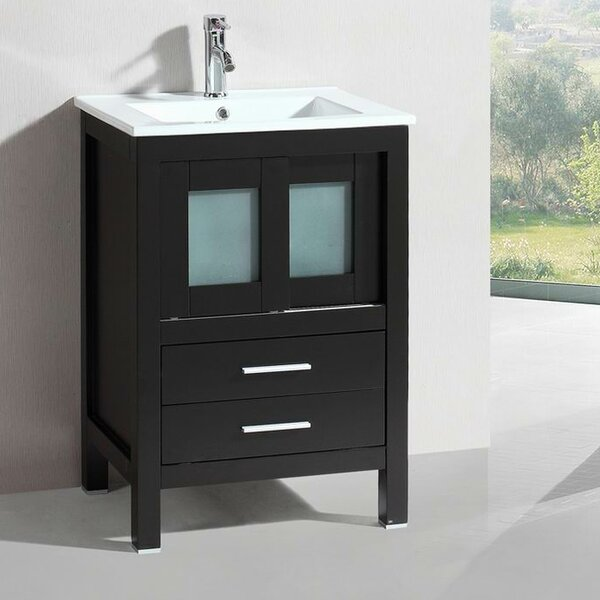 Modern Freestanding 24 Single Bathroom Vanity Set by Belvedere Bath