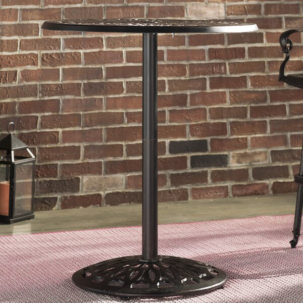 Richwood Aluminum & Iron Bar Table by Fleur De Lis Living