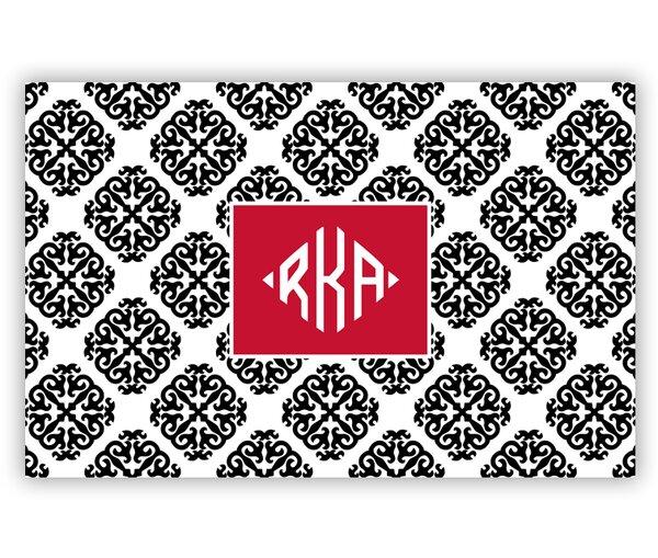 Marakesh Diamond Monogram Laminated Placemat by Chatsworth