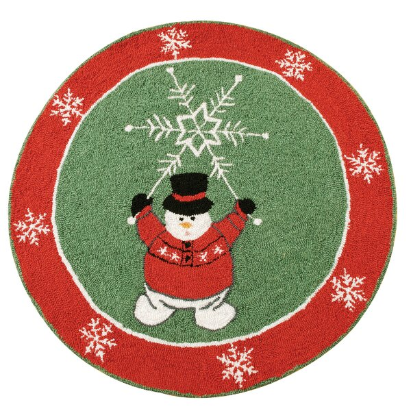 Winter Wonderland Christmas Green Area Rug by The