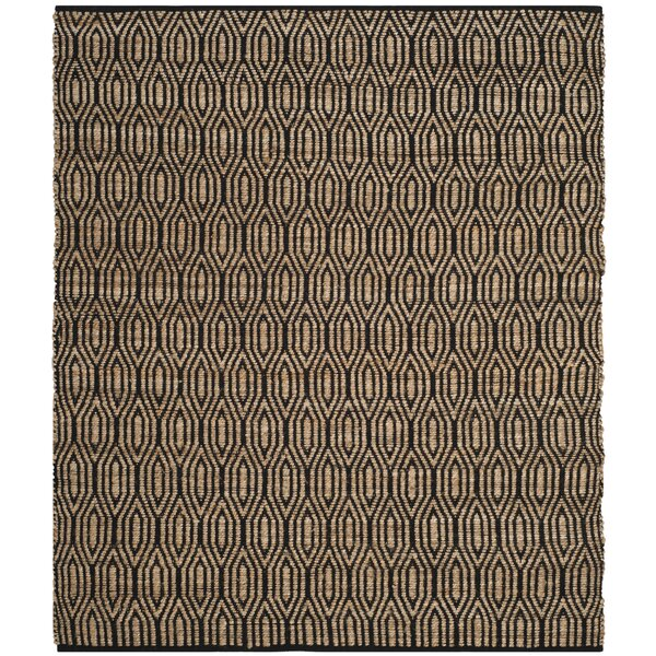 Astor Place Hand-Woven Black/Natural Area Rug by Wrought Studio