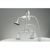 Three Handle Deck Mounted Tub Faucet with Handshower by Strom Living