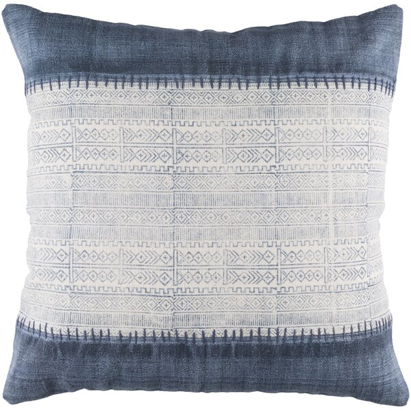 Friedman Striped Square Woven Cotton Throw Pillow by Mistana