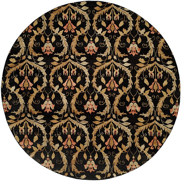 Hand Knotted Black/Gold Rug