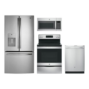 4 Piece Kitchen Package w/ French Door Refrigerator & 30\