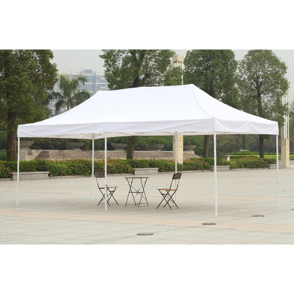 10 Ft. W x 20 Ft. D Steel Pop-Up Party Tent by Ame