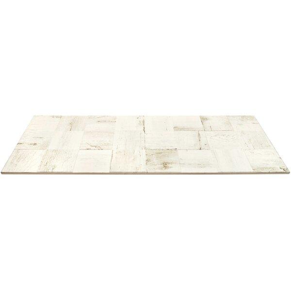 Lucky 3D 12 x 32 Ceramic Wood Look Tile in Alum by Splashback Tile