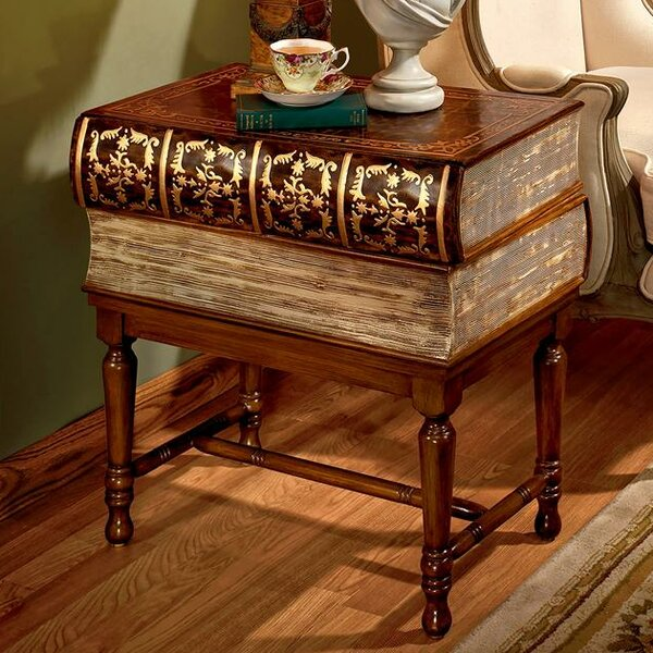 Stacked Books of Shakespeare Wooden End Table by Design Toscano Design Toscano