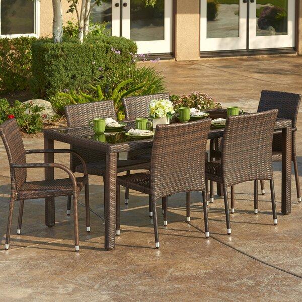 W Unlimited 7 Piece Outdoor Wicker Dining Set | Wayfair