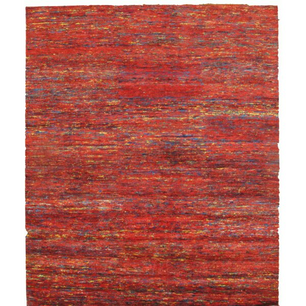 Sari Hand-Knotted Silk Red Area Rug by Pasargad NY