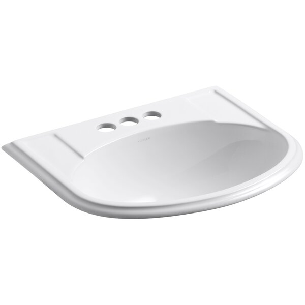 Devonshire® Ceramic U-Shaped Drop-In Bathroom Sink with Overflow by Kohler