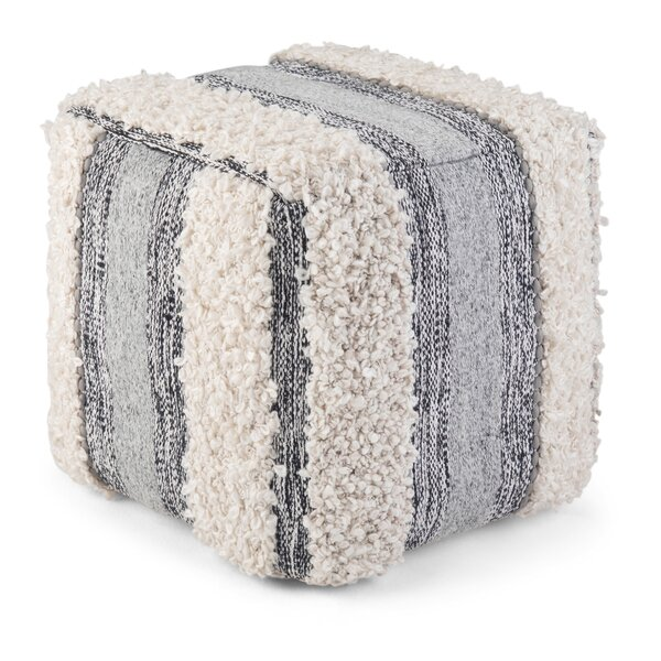 Tighe Cube Pouf by Bungalow Rose