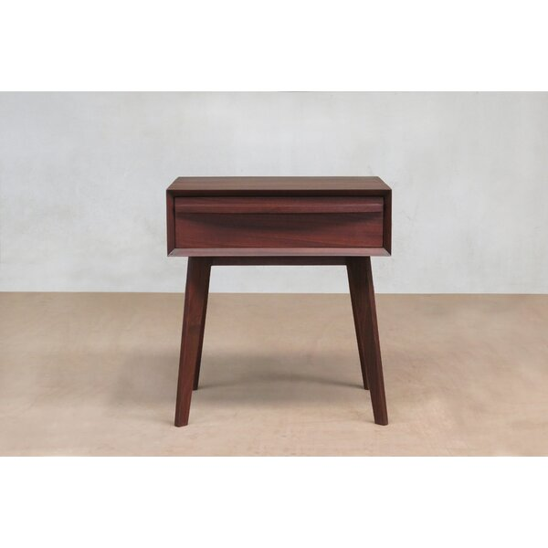 Rosita Walnut Nightstand by Masaya & Co Masaya & Co
