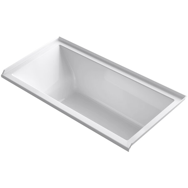 Underscore Alcove Vibracoustic 60 x 30 Soaking Bathtub by Kohler