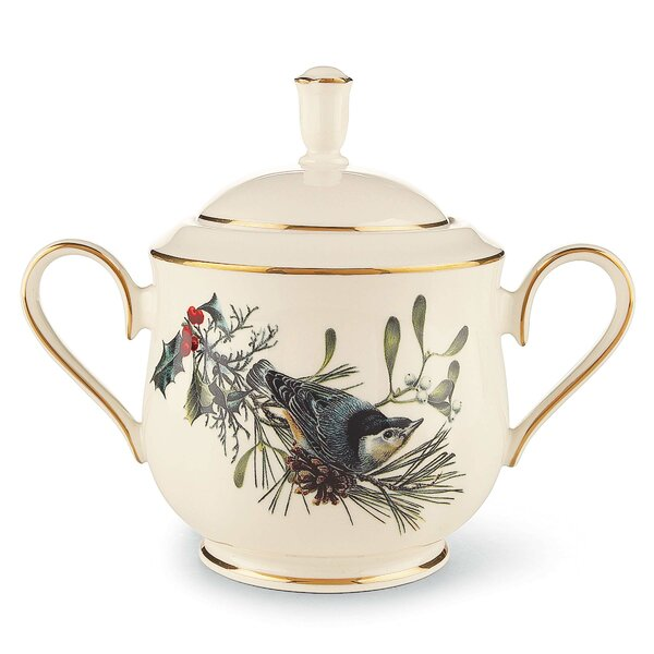 Winter Greetings Sugar Bowl with Lid by Lenox