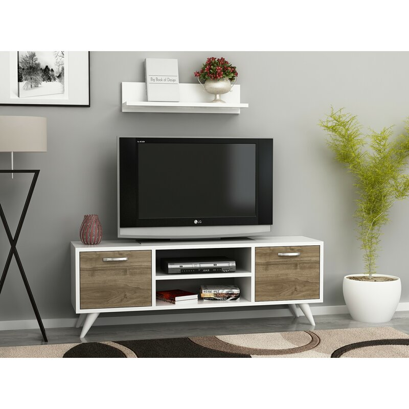 Wrought Studio Demko Tv Stand For Tvs Up To 60 Reviews Wayfair